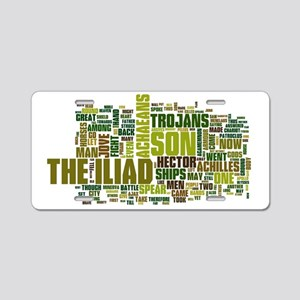 Word Art from Homer's Iliad Aluminum License Plate