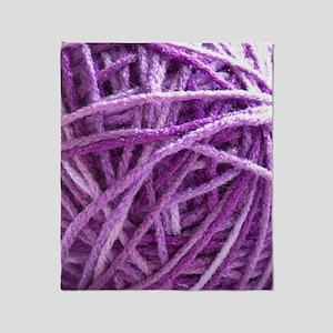 Purple Yarn Throw Blanket
