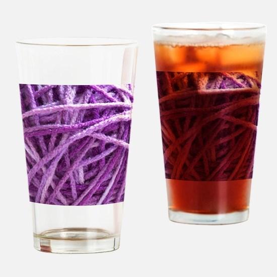 Purple Yarn Drinking Glass