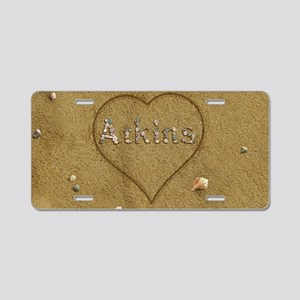 Atkins Beach Love Aluminum License Plate