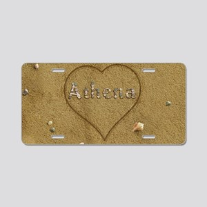 Athena Beach Love Aluminum License Plate
