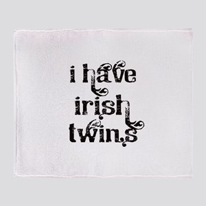 I have Irish twins fancy Throw Blanket