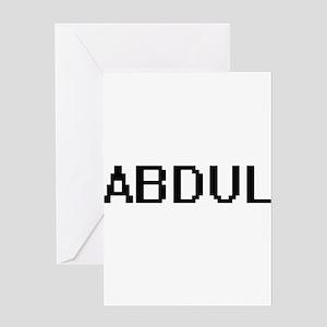 Abdul Digital Name Design Greeting Cards