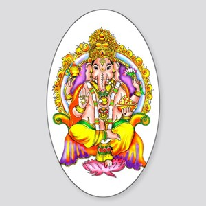 Ganesh Oval Sticker