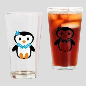 Luau penguin Drinking Glass