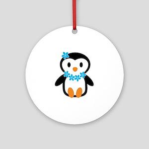 Luau penguin Ornament (Round)