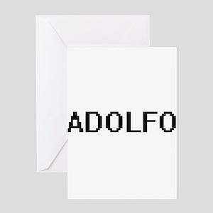 Adolfo Digital Name Design Greeting Cards