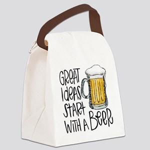 Great Ideas Start With A Beer Canvas Lunch Bag