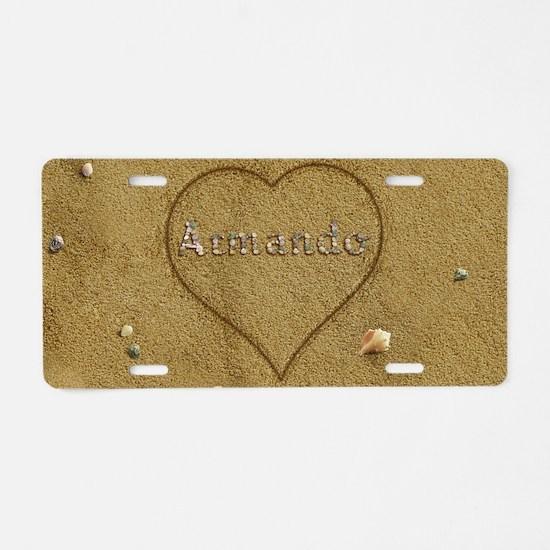 Armando Beach Love Aluminum License Plate