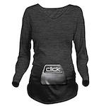 Click Computer Geek Long Sleeve Maternity T-Shirt
