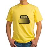 Click Computer Geek Yellow T-Shirt