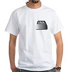 Click Computer Geek White T-Shirt