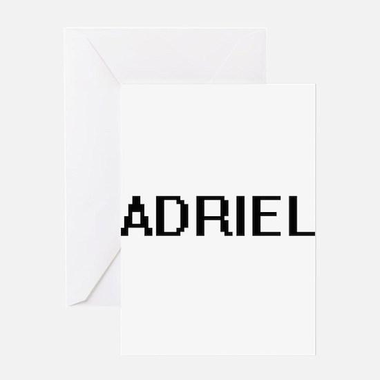 Adriel Digital Name Design Greeting Cards