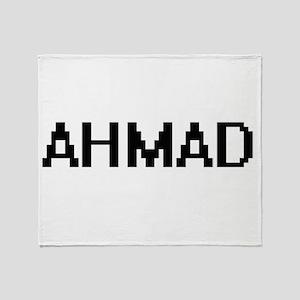 Ahmad Digital Name Design Throw Blanket