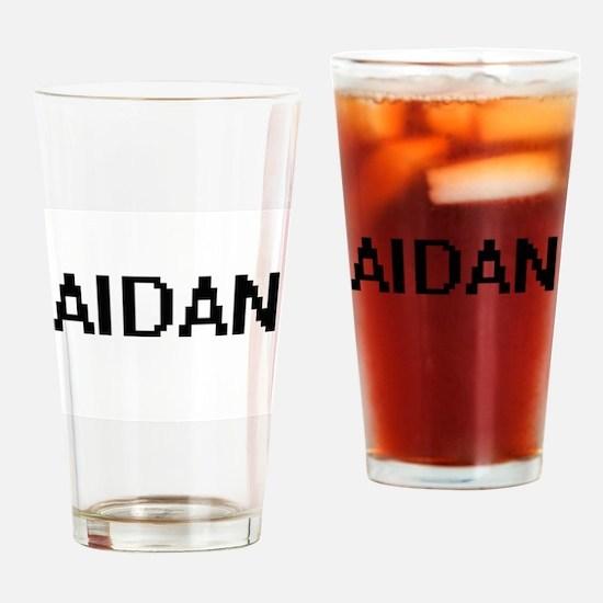 Aidan Digital Name Design Drinking Glass