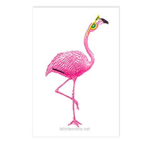 One Cool Flamingo Postcards (Package of 8)