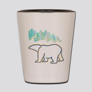 POLAR BEAR AND NORTHERN LIGHTS Shot Glass
