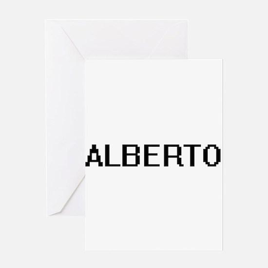 Alberto Digital Name Design Greeting Cards