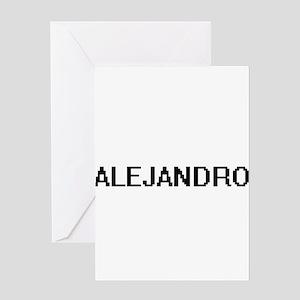 Alejandro Digital Name Design Greeting Cards