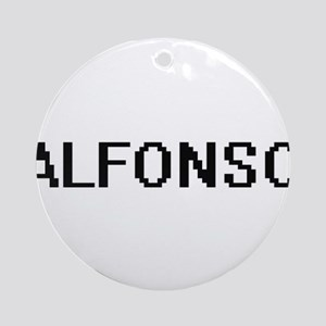 Alfonso Digital Name Design Ornament (Round)