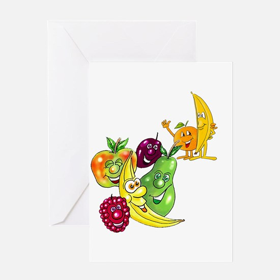 Healthy Happy Fruit Greeting Card