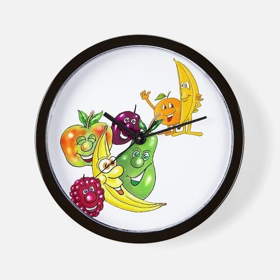 Healthy Happy Fruit Wall Clock