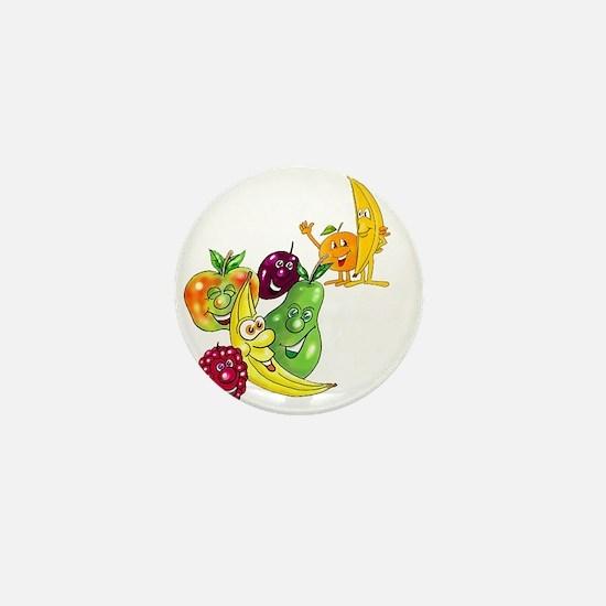 Healthy Happy Fruit Mini Button
