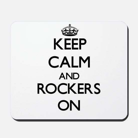 Keep Calm and Rockers ON Mousepad