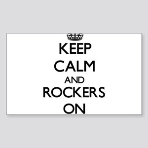 Keep Calm and Rockers ON Sticker