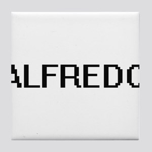 Alfredo Digital Name Design Tile Coaster