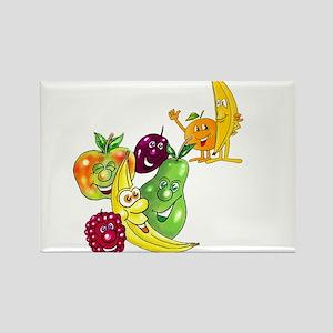 Healthy Happy Fruit Rectangle Magnet