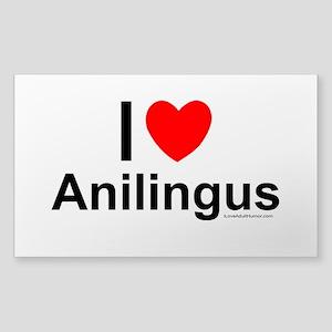 Anilingus Sticker (Rectangle)