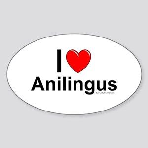 Anilingus Sticker (Oval)