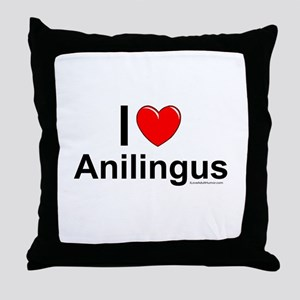 Anilingus Throw Pillow