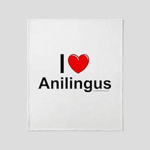 Anilingus Throw Blanket