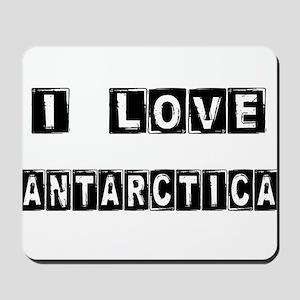I Block love Antarctica Mousepad
