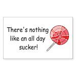 All day sucker Rectangle Sticker