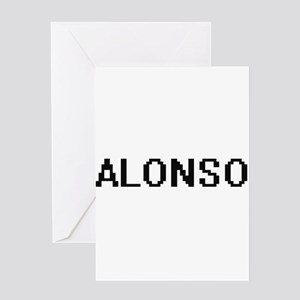 Alonso Digital Name Design Greeting Cards