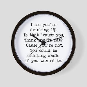 Drinking 1% (blk) - Napoleon Wall Clock