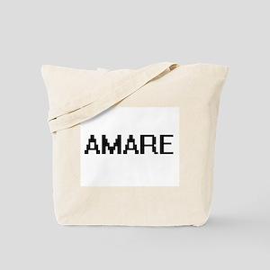 Amare Digital Name Design Tote Bag