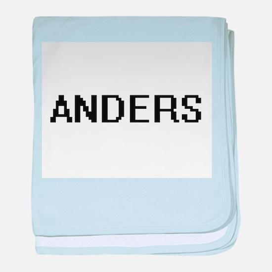 Anders Digital Name Design baby blanket