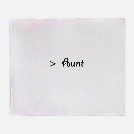 Cute Great aunt Throw Blanket