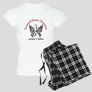 Carcinoid Cancer Butterfly Women's Light Pajamas