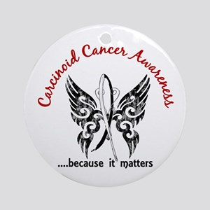 Carcinoid Cancer Butterfly 6.1 Ornament (Round)