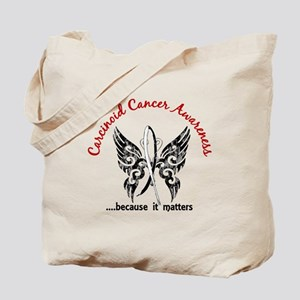 Carcinoid Cancer Butterfly 6.1 Tote Bag