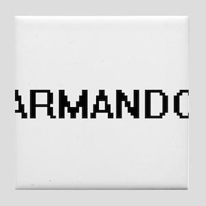 Armando Digital Name Design Tile Coaster