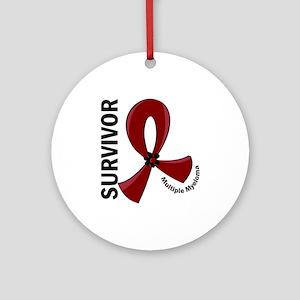 Multiple Myeloma Survivor 12 Ornament (Round)