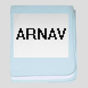 Arnav Digital Name Design baby blanket