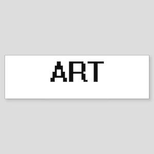 Art Digital Name Design Bumper Sticker