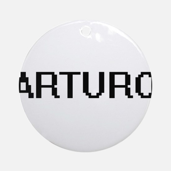 Arturo Digital Name Design Ornament (Round)